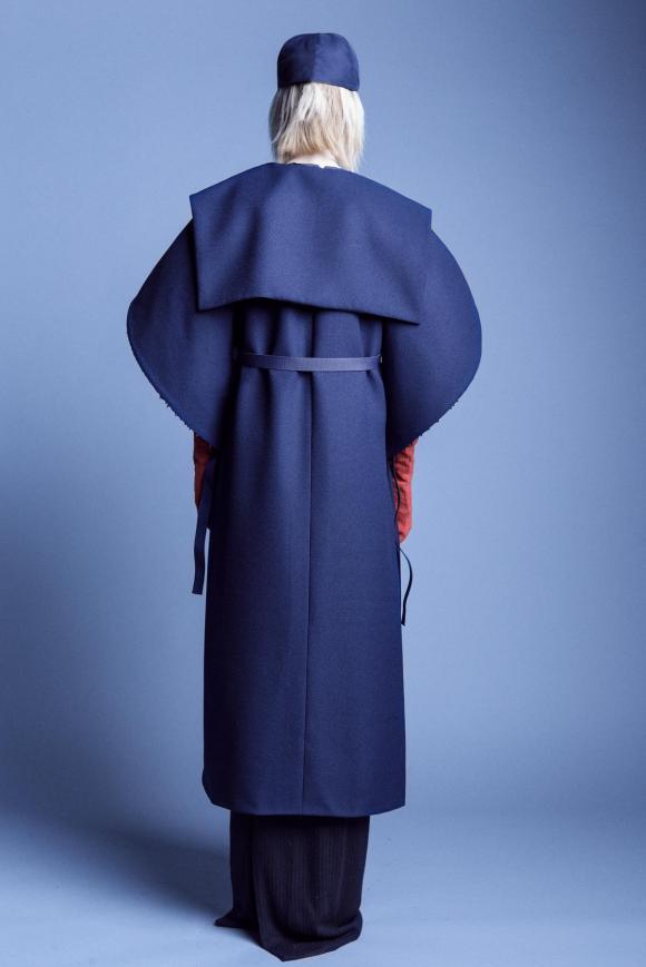 'You talk too much' maxi coat