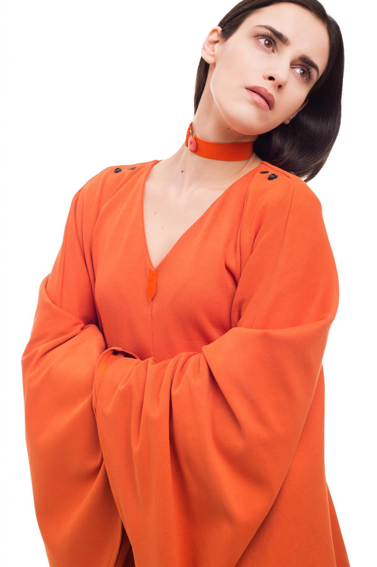 Orange maxi 'Yes Boss' dress