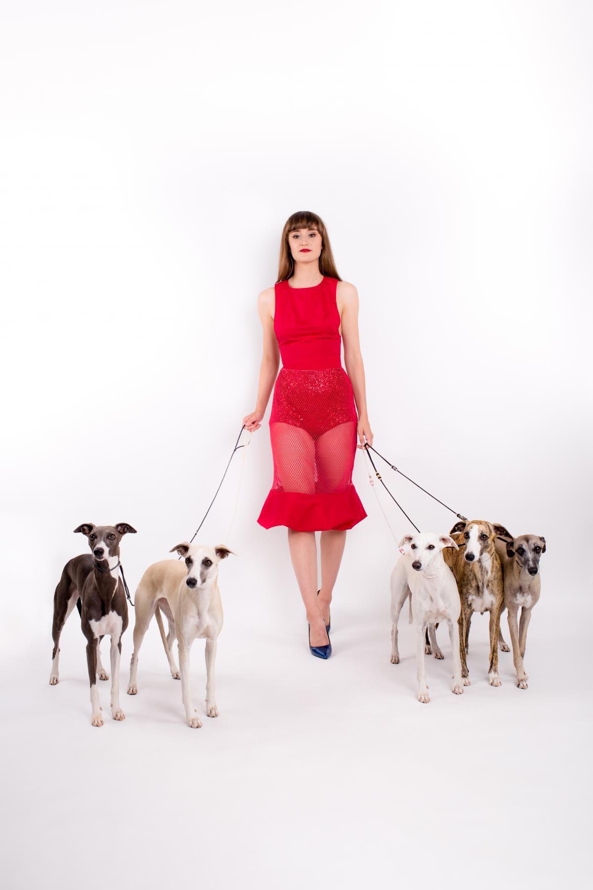 Mesh red skirt
